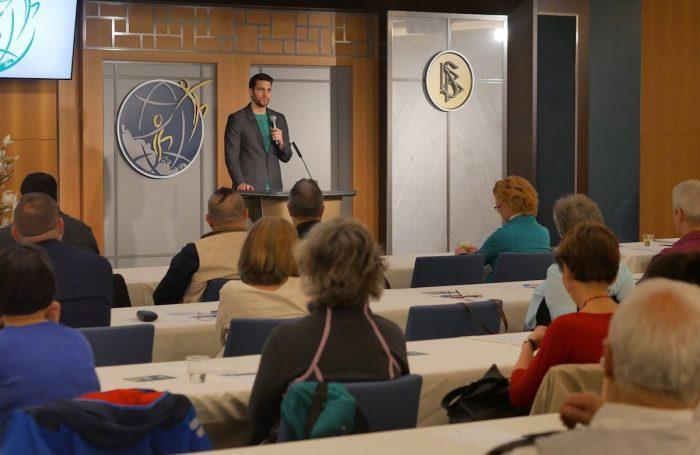 Németh Gergő, a Drogmentes Világért Alapítvány vezetője, a Hogyan beszéljünk gyermekünkkel a drogokról? Konferencián 2019.04.09.